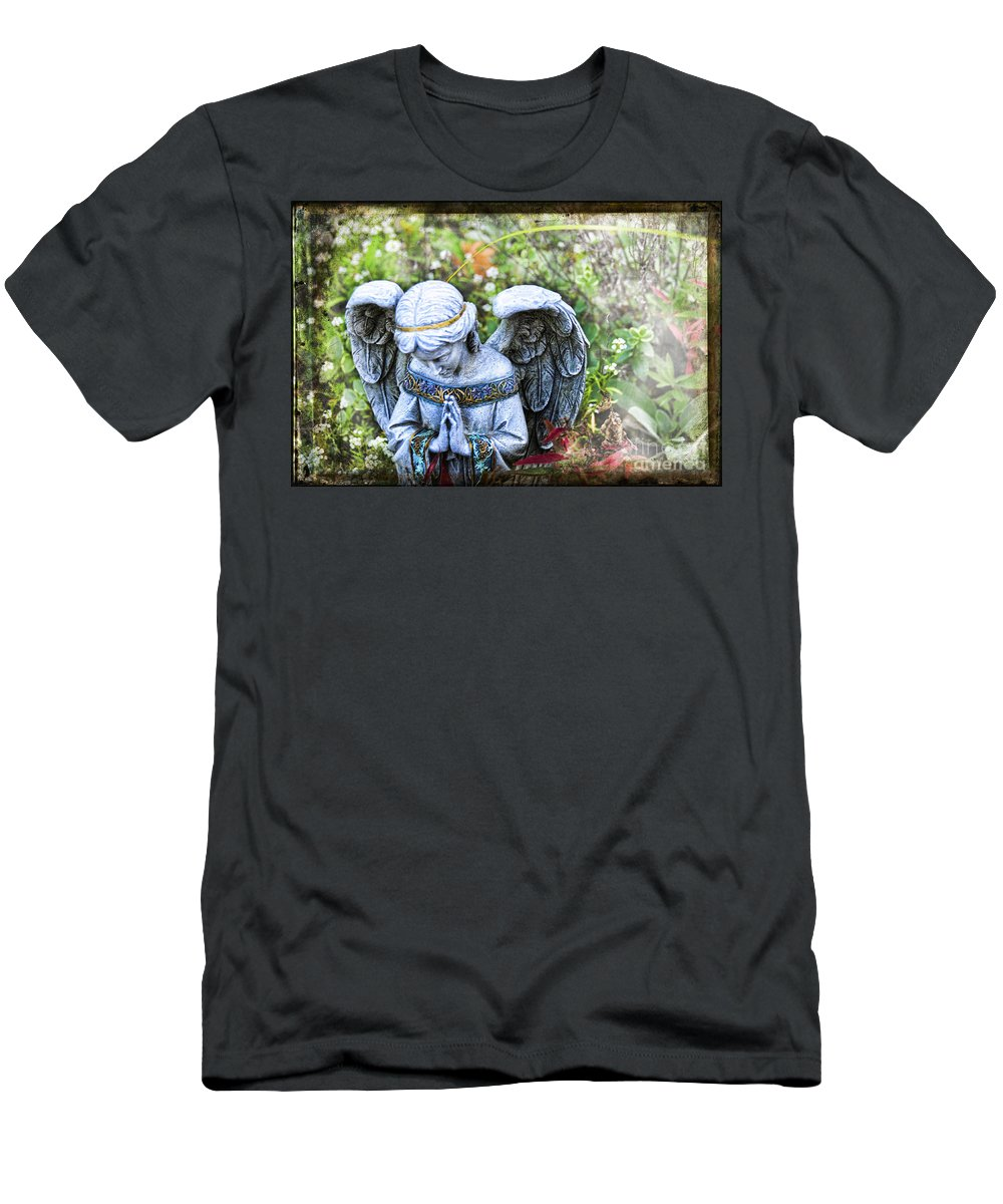 Angel Men's T-Shirt (Athletic Fit) featuring the photograph Pray by David Arment