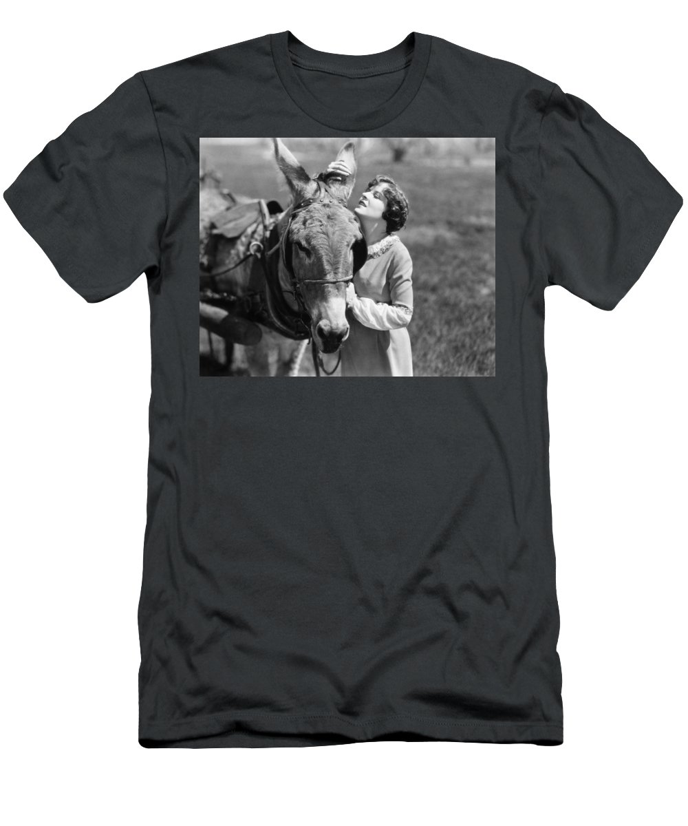 -ec33- Men's T-Shirt (Athletic Fit) featuring the photograph Silent Film Still: Animal by Granger