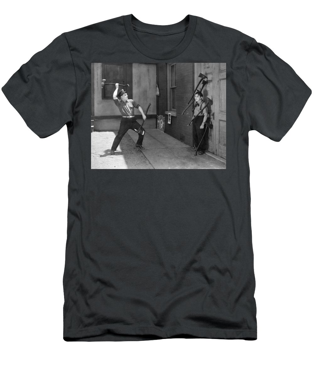 -man In Distress- Men's T-Shirt (Athletic Fit) featuring the photograph Silent Still: Man In Distress by Granger
