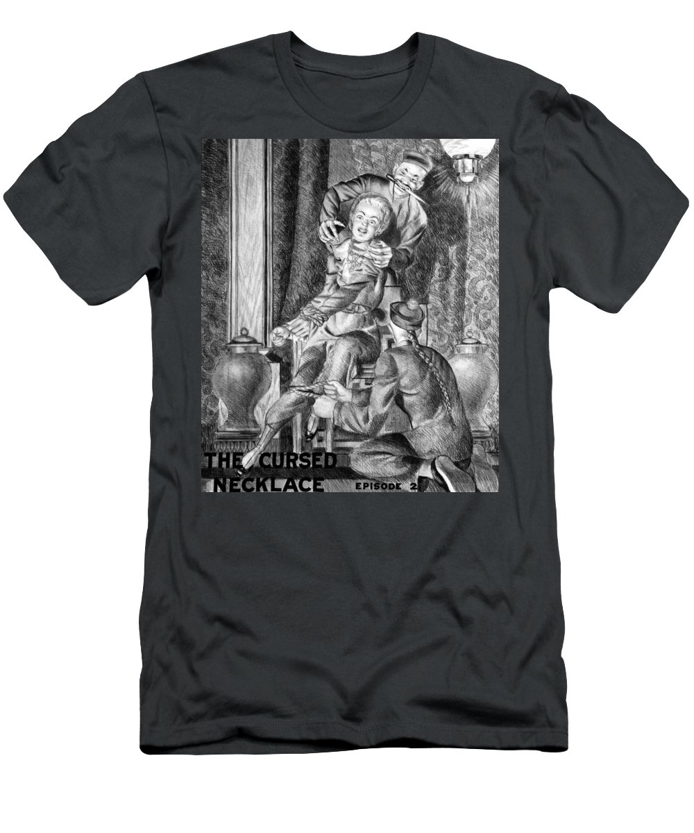 1914 Men's T-Shirt (Athletic Fit) featuring the photograph The Perils Of Pauline by Granger