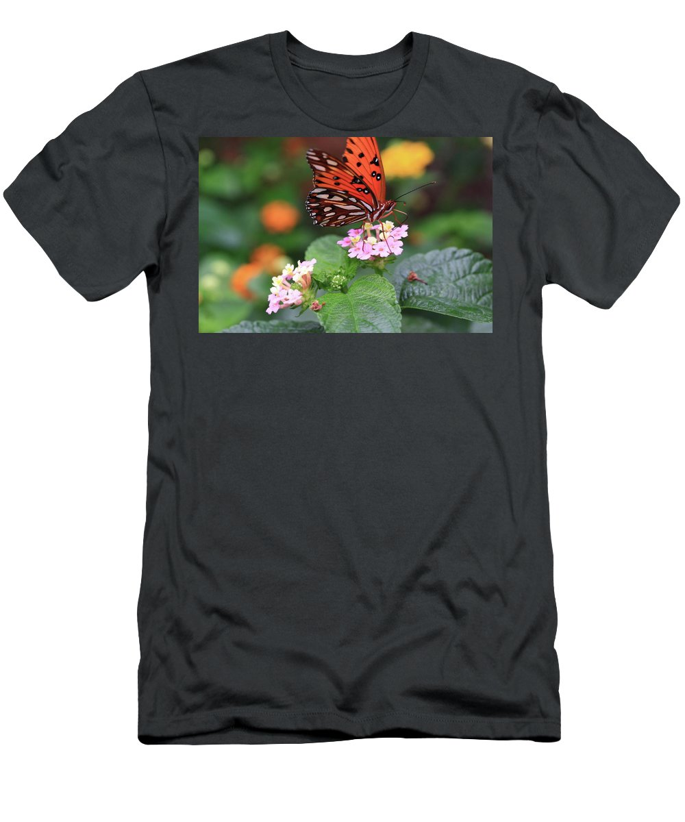 Butterfly Men's T-Shirt (Athletic Fit) featuring the photograph Untitled by Rick Berk