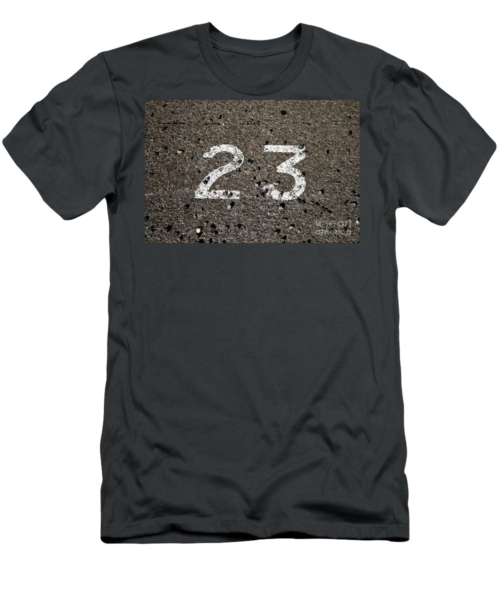 Font Men's T-Shirt (Athletic Fit) featuring the photograph 23 by Stephen Mitchell