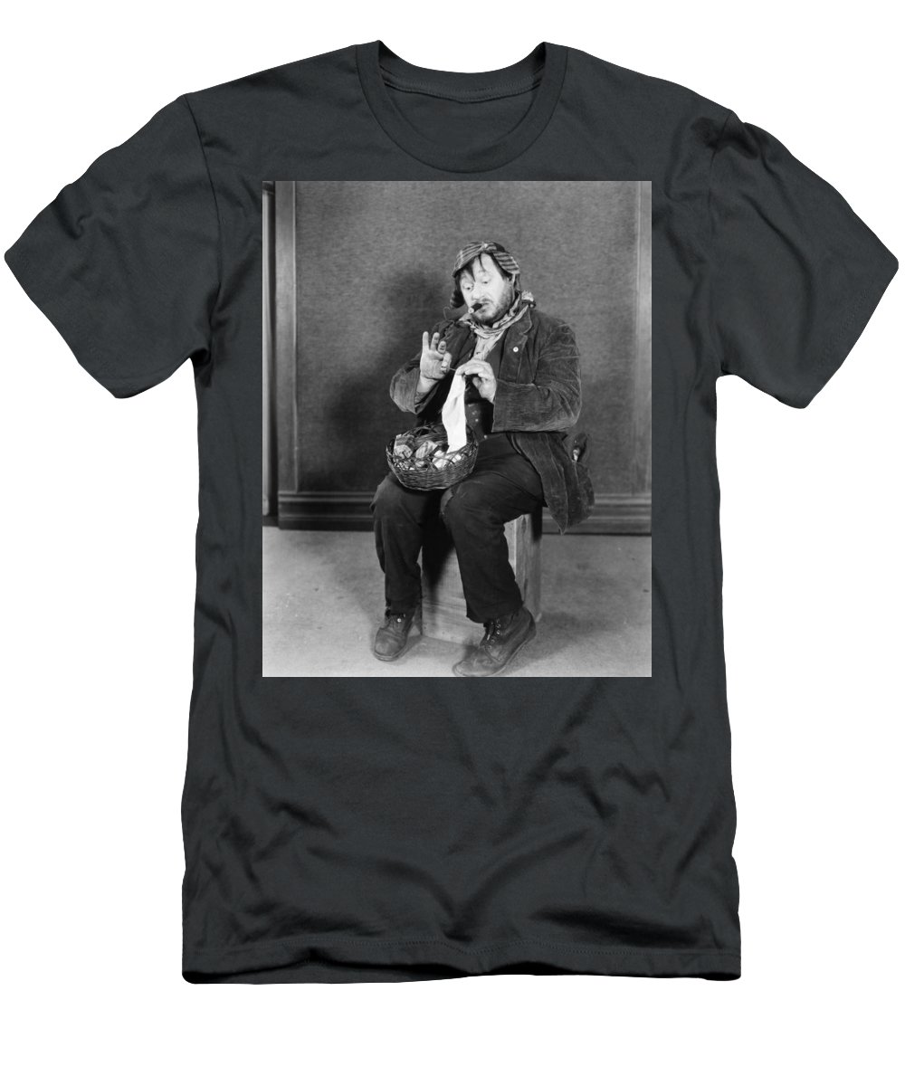 -man Single- Men's T-Shirt (Athletic Fit) featuring the photograph Silent Still: Single Man by Granger