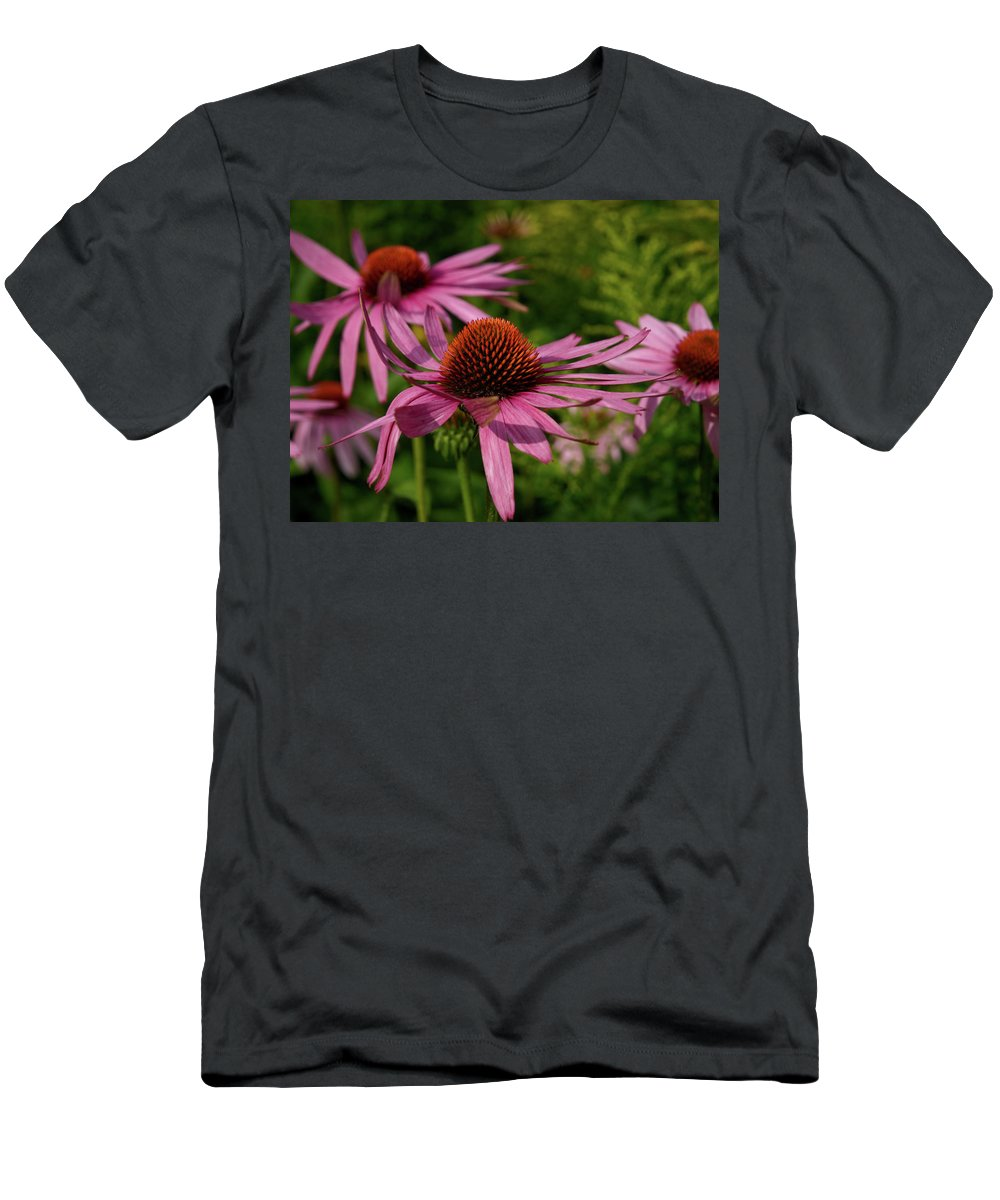 Jouko Lehto Men's T-Shirt (Athletic Fit) featuring the photograph Eastern Purple Coneflower by Jouko Lehto