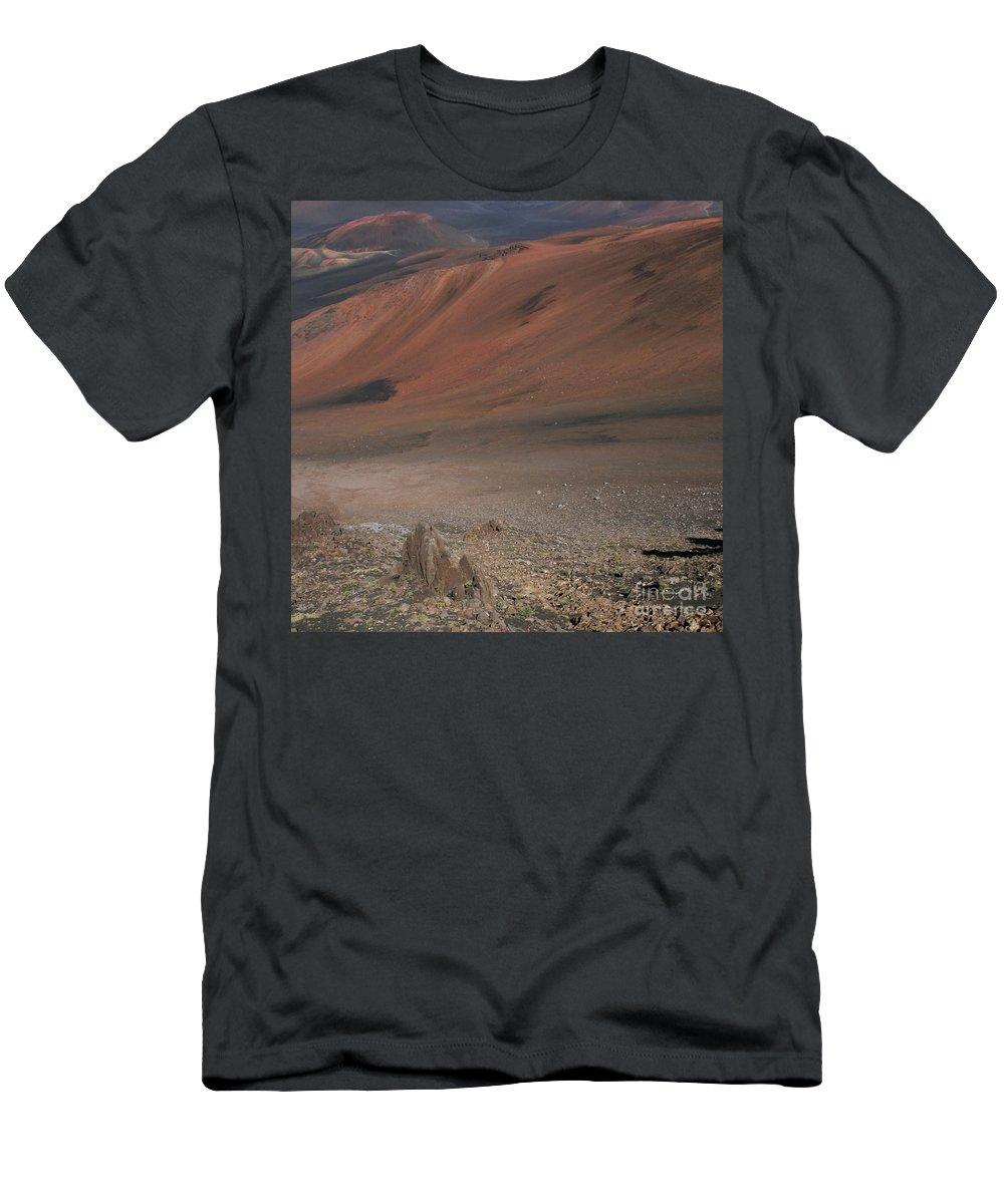 Aloha Men's T-Shirt (Athletic Fit) featuring the photograph Haleakala Volcano Maui Hawaii by Sharon Mau