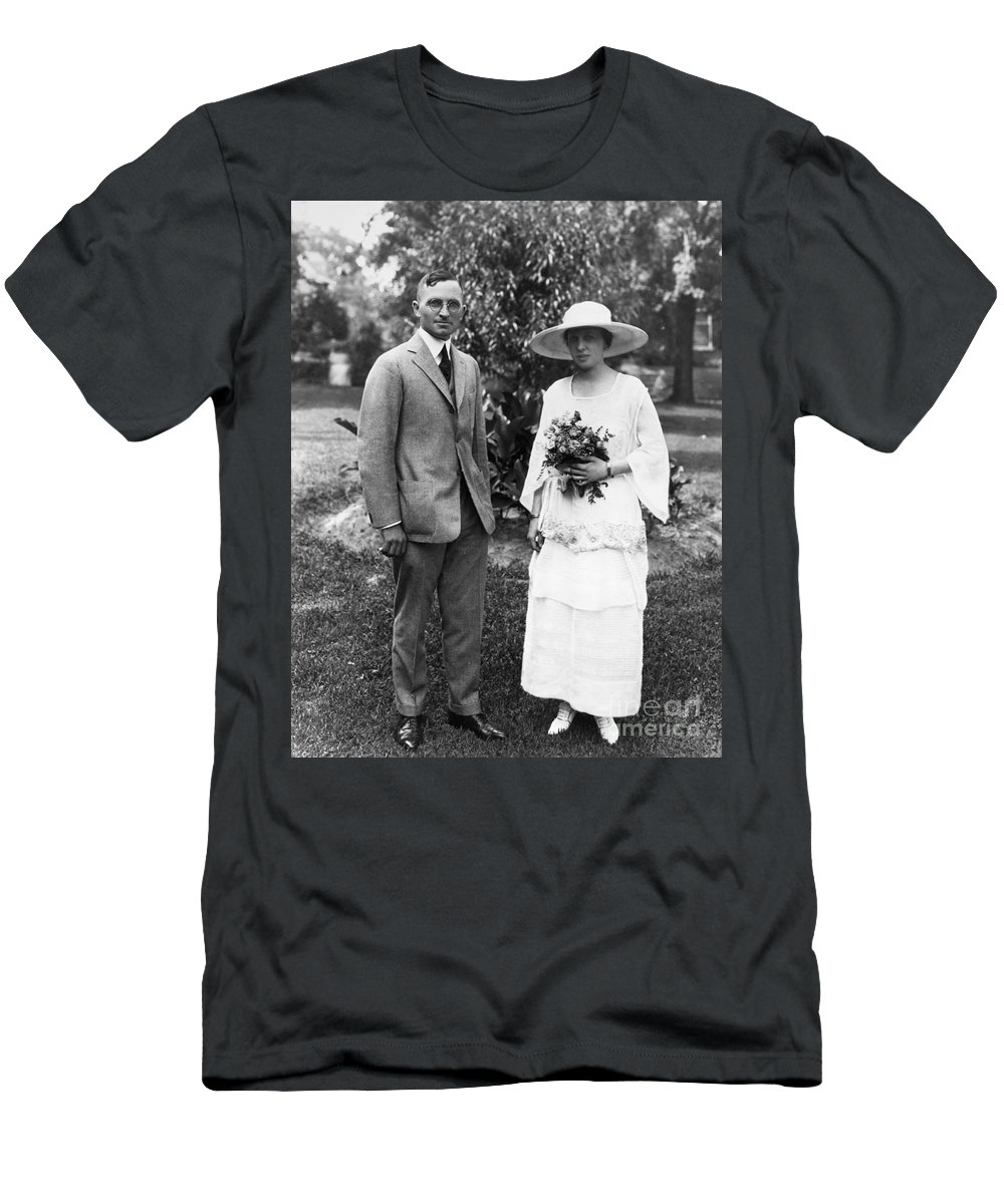 1919 Men's T-Shirt (Athletic Fit) featuring the photograph Harry S. Truman (1884-1972) by Granger