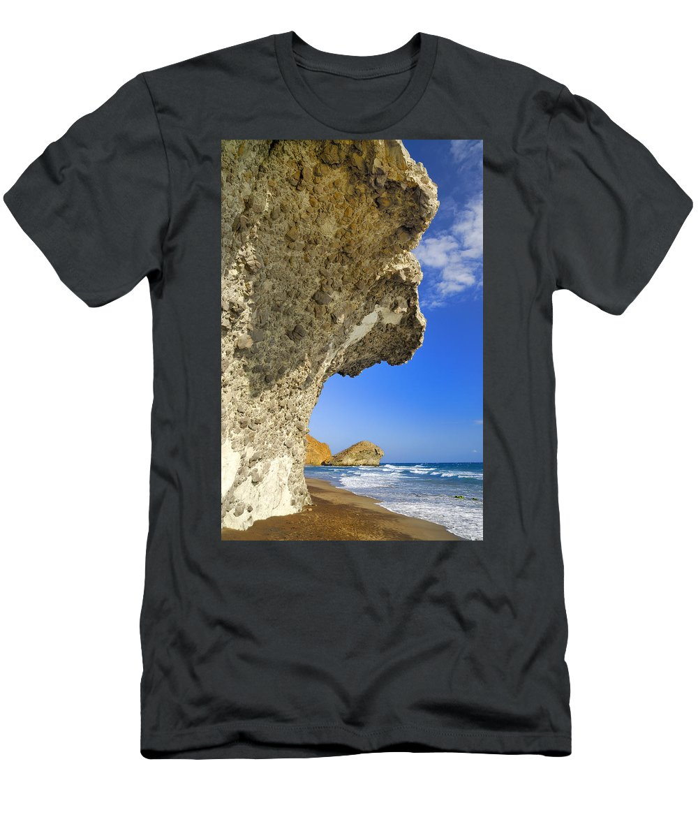 Sunset Men's T-Shirt (Athletic Fit) featuring the photograph Monsul by Guido Montanes Castillo