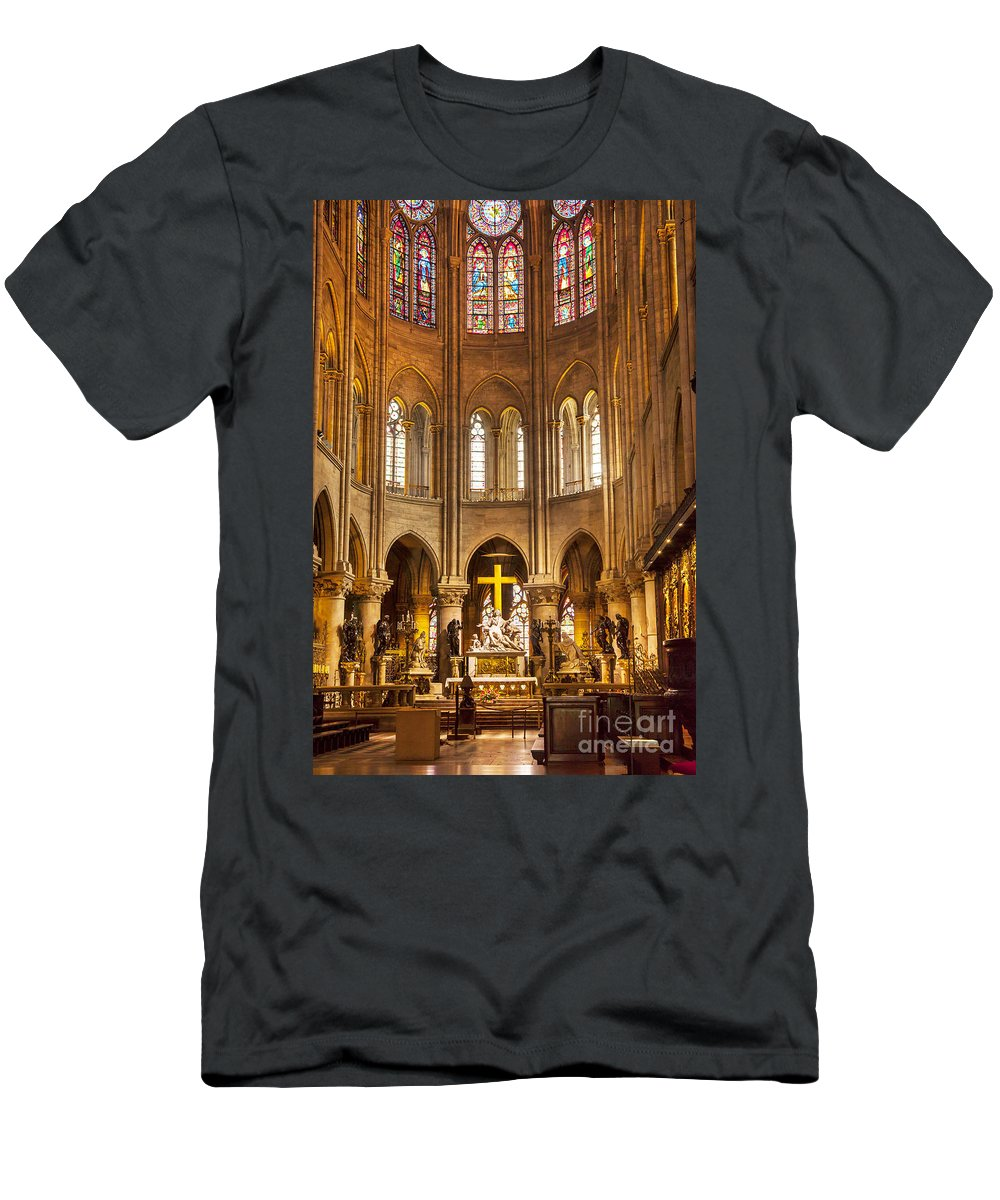 Alter Men's T-Shirt (Athletic Fit) featuring the photograph Cathedral Notre Dame by Brian Jannsen