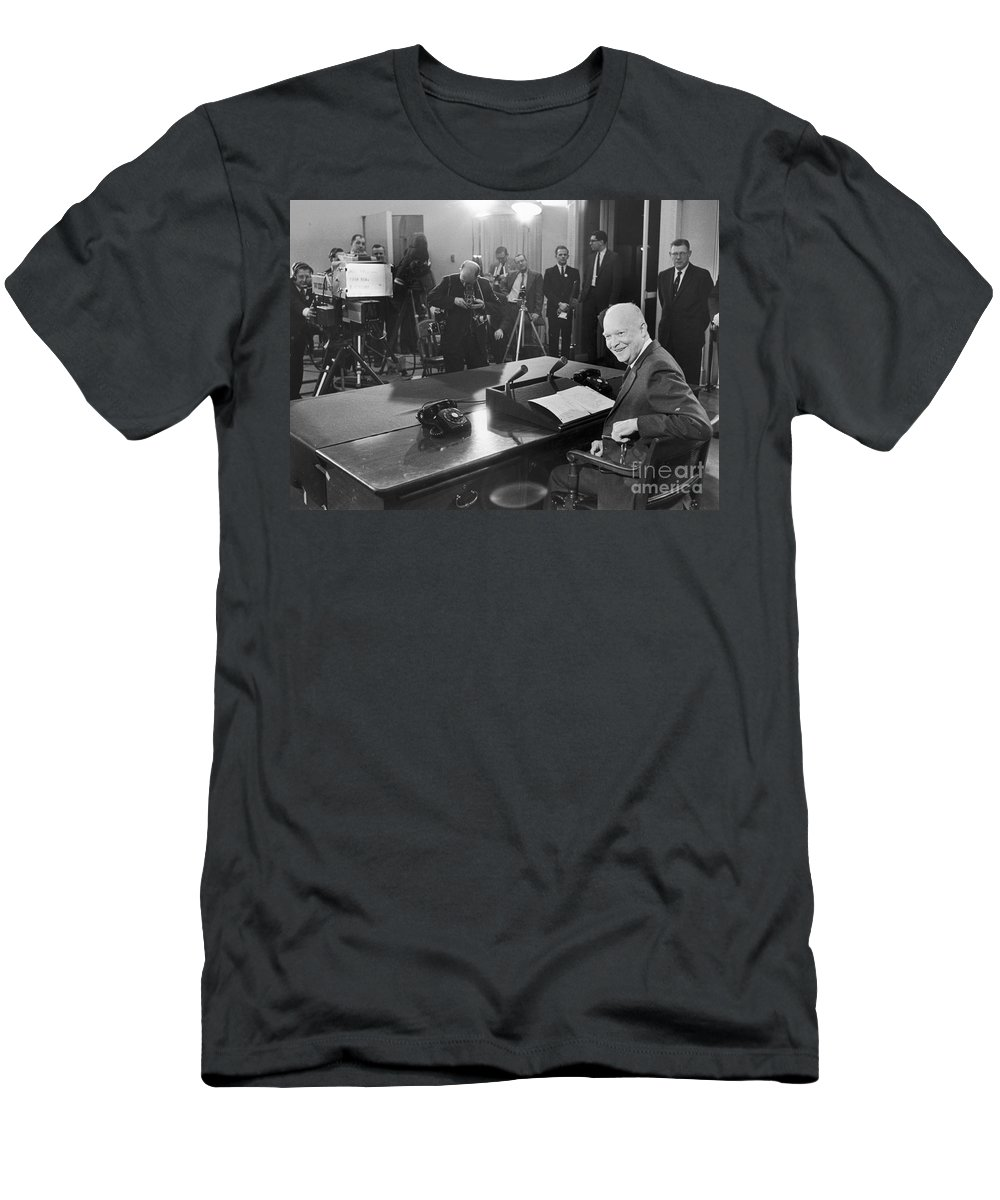 1961 Men's T-Shirt (Athletic Fit) featuring the photograph Dwight D. Eisenhower by Granger