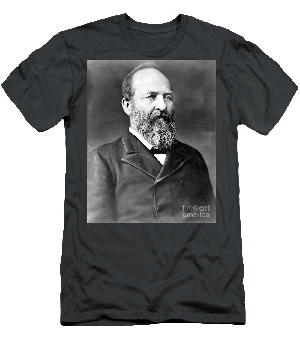 1880s Men's T-Shirt (Athletic Fit) featuring the photograph James A. Garfield (1831-1881) by Granger