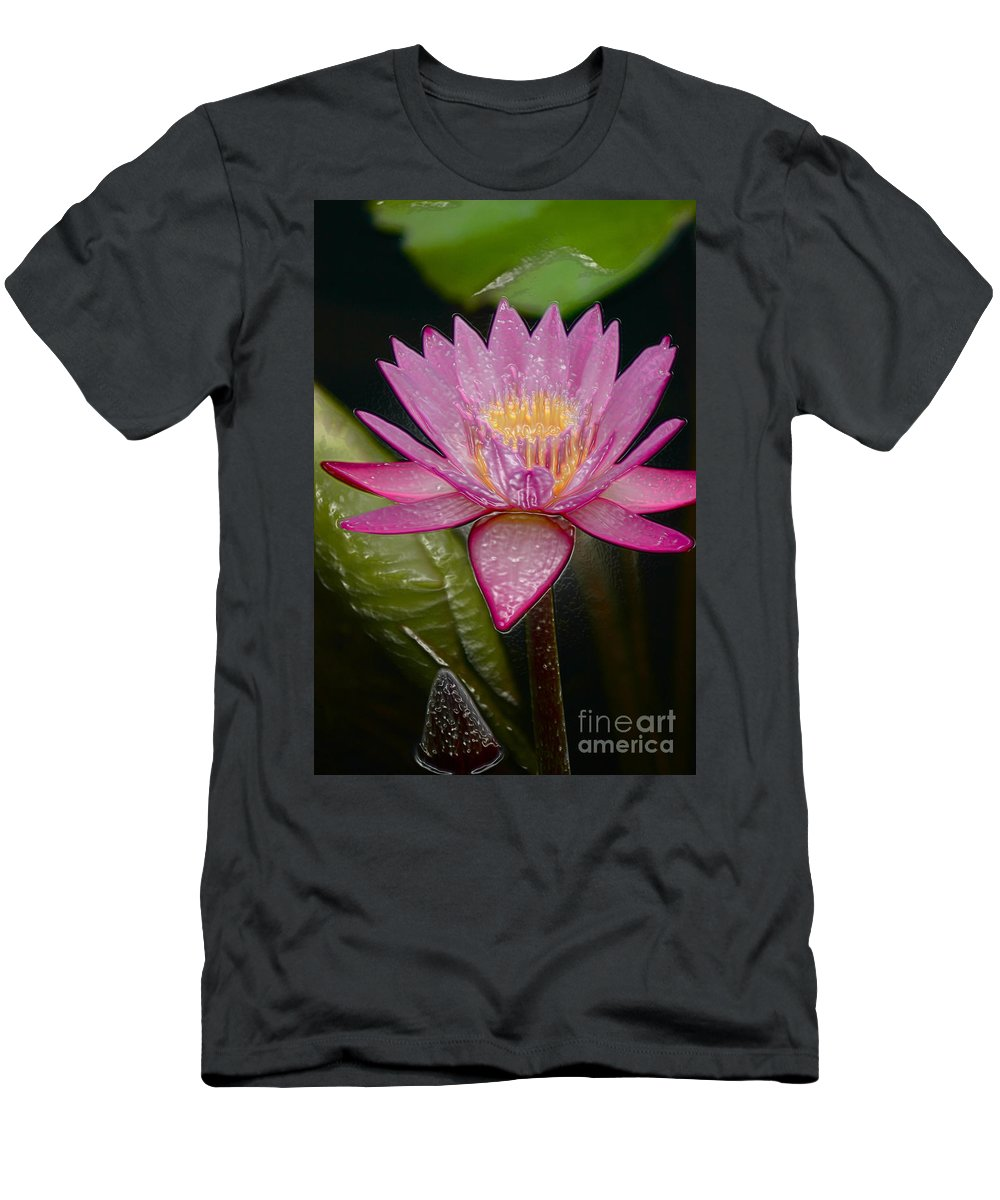 Digital Designs T-Shirt featuring the photograph Water Lily by Mark Gilman