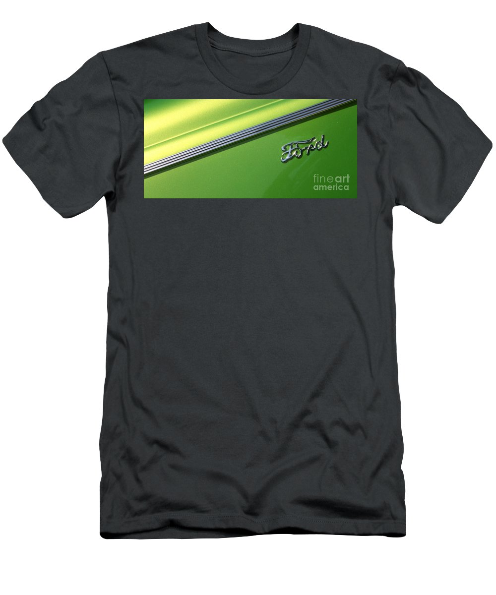 1940 Men's T-Shirt (Athletic Fit) featuring the photograph 40 Ford - Logo-8589 by Gary Gingrich Galleries