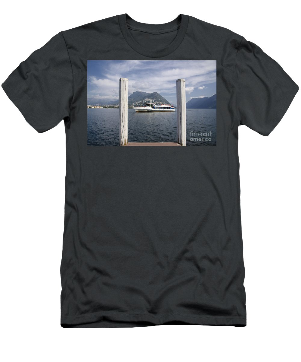 Lake Men's T-Shirt (Athletic Fit) featuring the photograph Alpine Lake by Mats Silvan