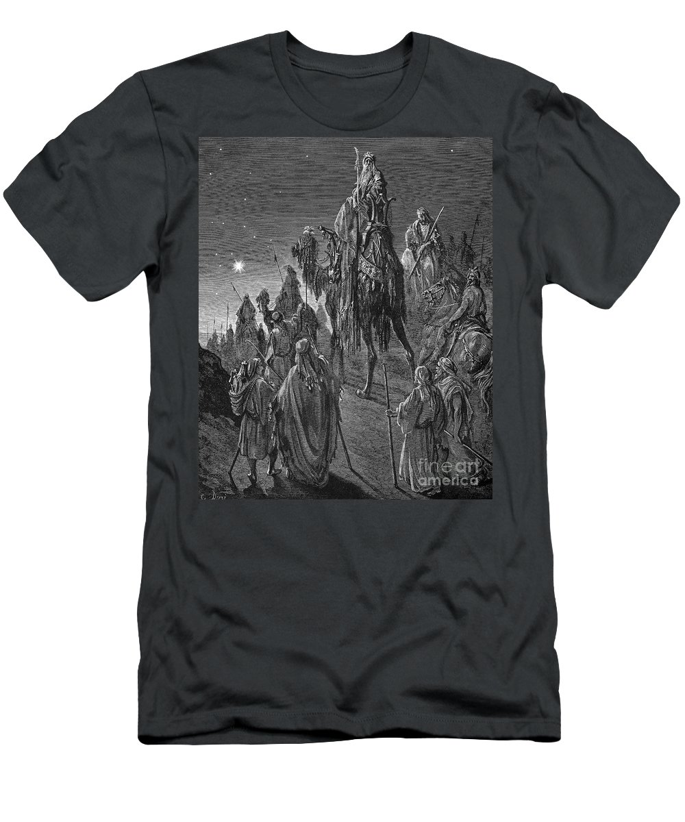19th Century Men's T-Shirt (Athletic Fit) featuring the photograph The Nativity by Granger