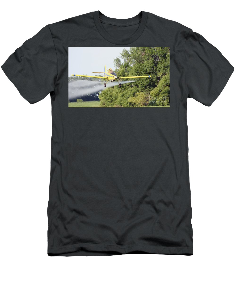 Plane Men's T-Shirt (Athletic Fit) featuring the photograph Airplane by Lori Tordsen
