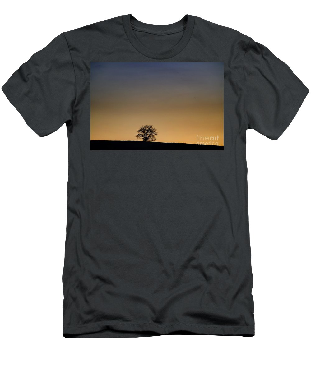 Tree Men's T-Shirt (Athletic Fit) featuring the photograph Lonely Tree by Mats Silvan