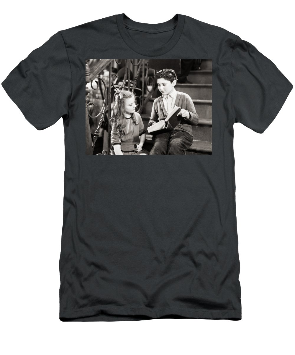 -children- Men's T-Shirt (Athletic Fit) featuring the photograph Silent Still: Children by Granger