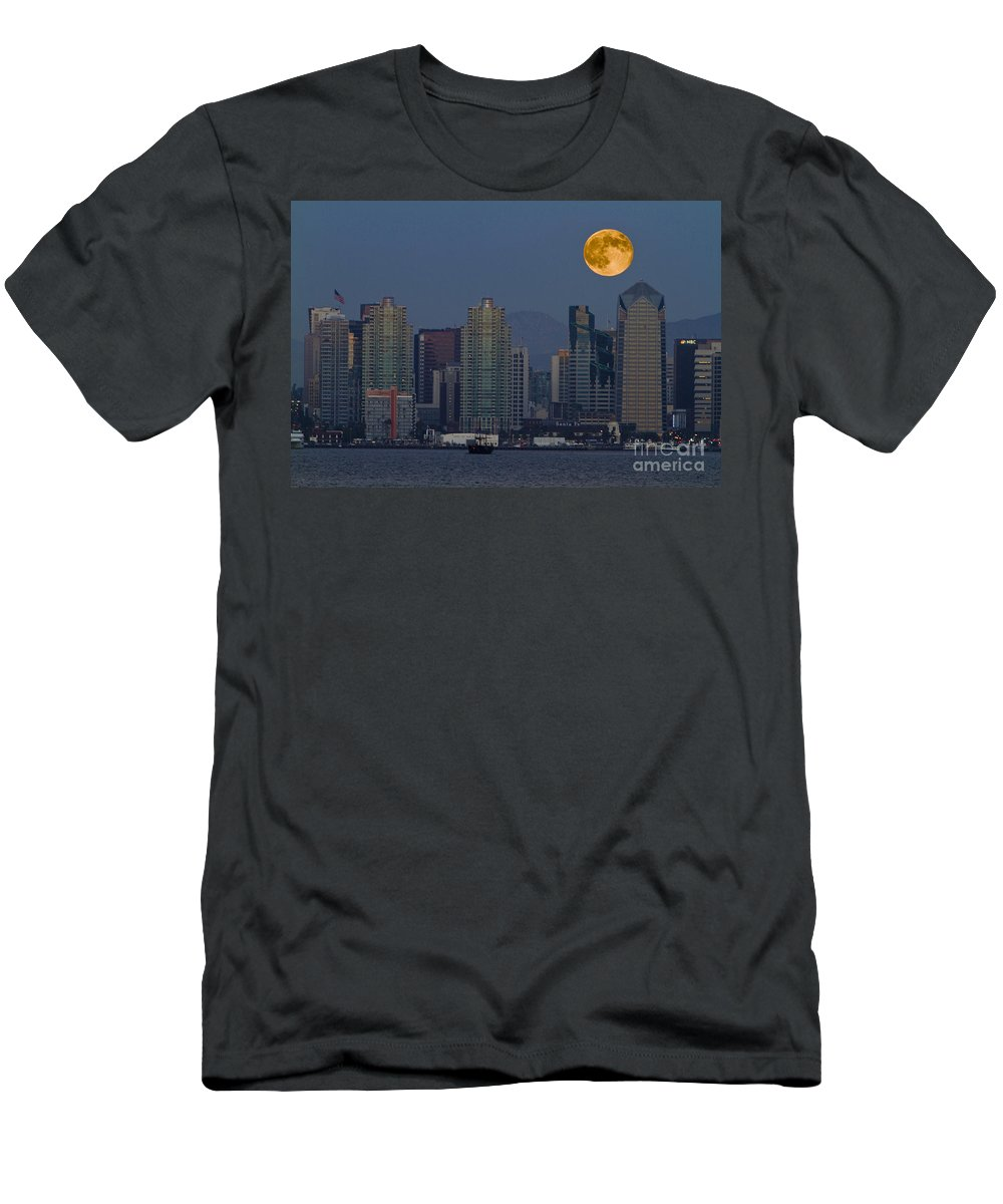 Blue Men's T-Shirt (Athletic Fit) featuring the photograph 7995 by Daniel Knighton