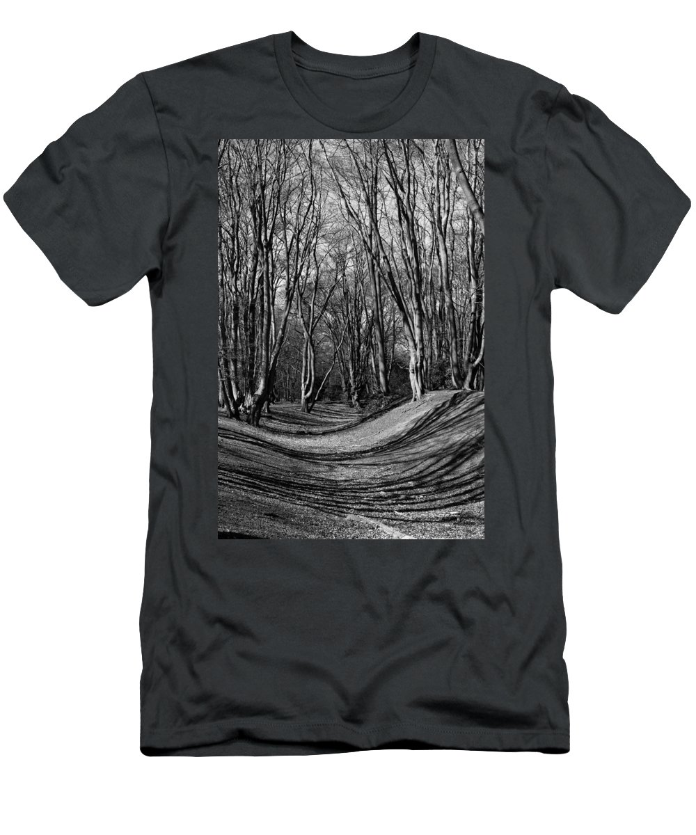 Ambresbury Men's T-Shirt (Athletic Fit) featuring the photograph Ambresbury Banks Bronze Age Fortification by David Pyatt