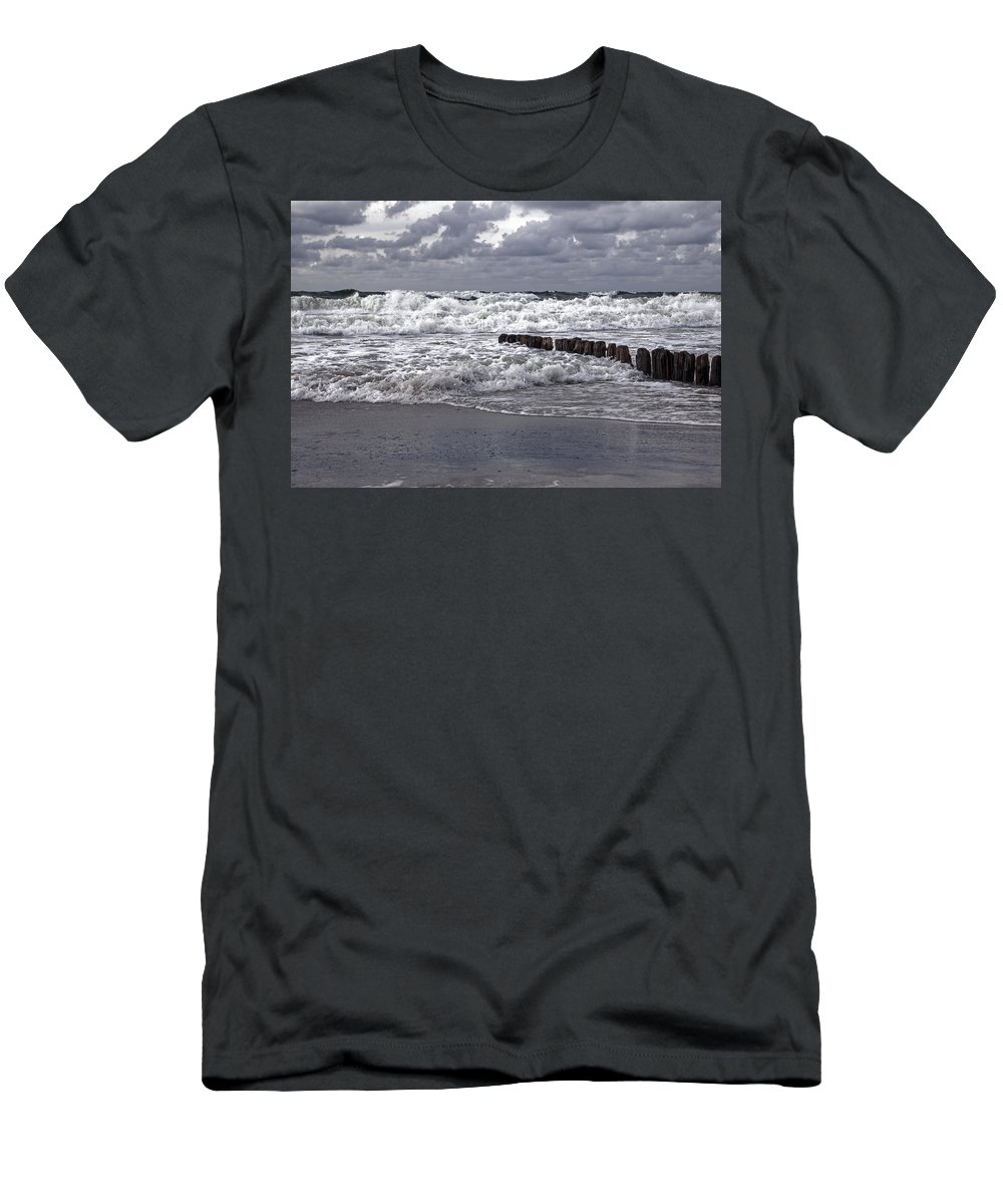 Groyne Men's T-Shirt (Athletic Fit) featuring the photograph Kampen - Sylt by Joana Kruse