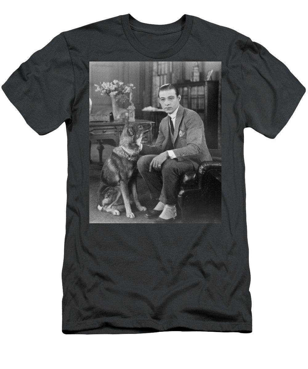 -ec33- Men's T-Shirt (Athletic Fit) featuring the photograph Rudolph Valentino by Granger