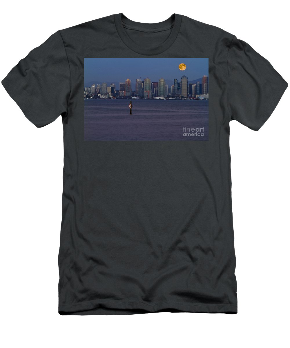Blue Men's T-Shirt (Athletic Fit) featuring the photograph 8001 by Daniel Knighton
