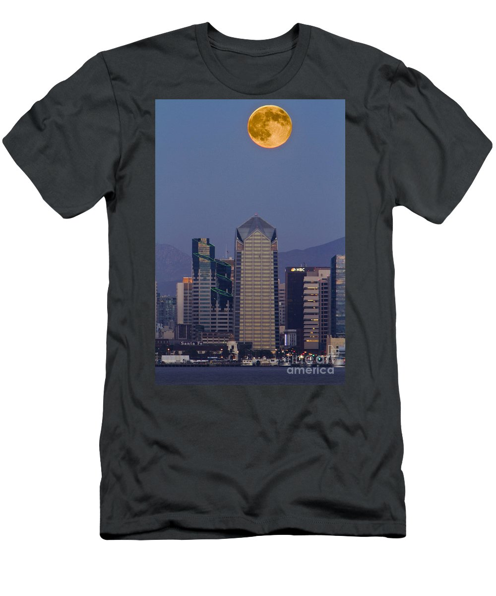 Blue Men's T-Shirt (Athletic Fit) featuring the photograph 8008 by Daniel Knighton
