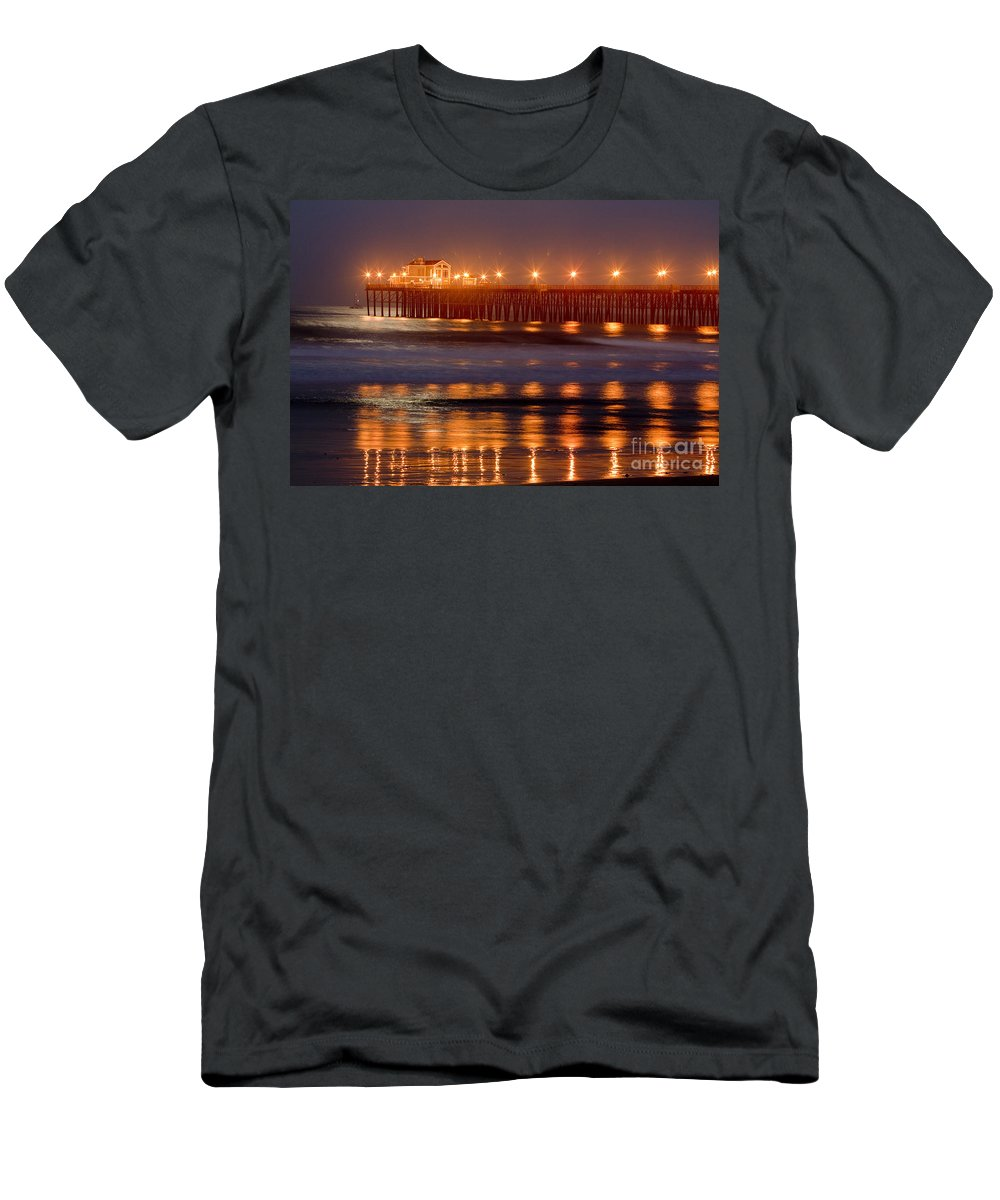 Oceanside Men's T-Shirt (Athletic Fit) featuring the photograph 8034 by Daniel Knighton