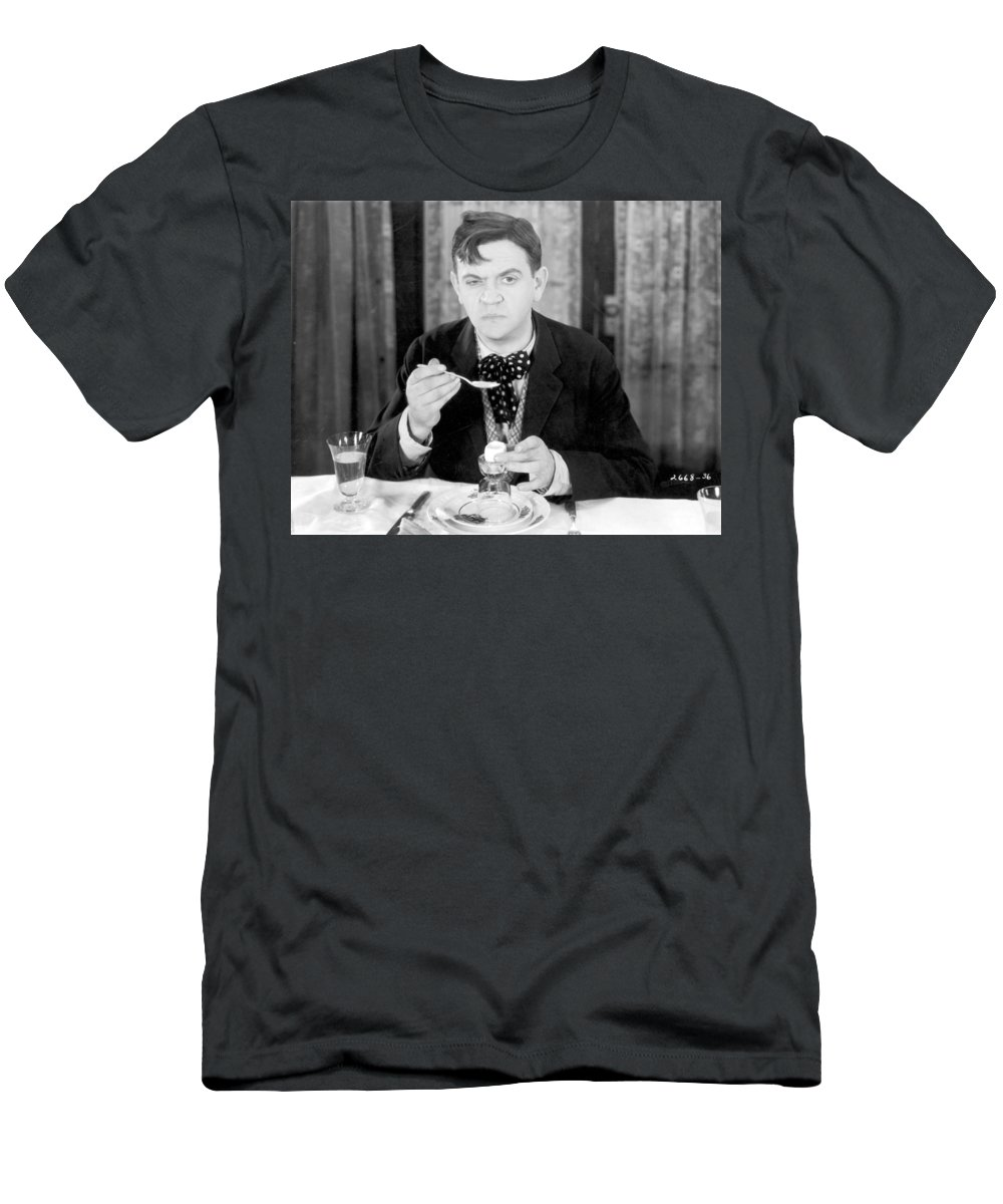 -eating & Drinking- Men's T-Shirt (Athletic Fit) featuring the photograph Film Still: Eating & Drinking by Granger
