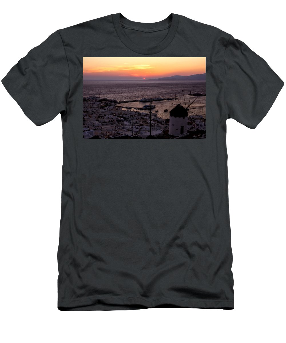 Ano Myli Men's T-Shirt (Athletic Fit) featuring the photograph Mykonos by Joana Kruse