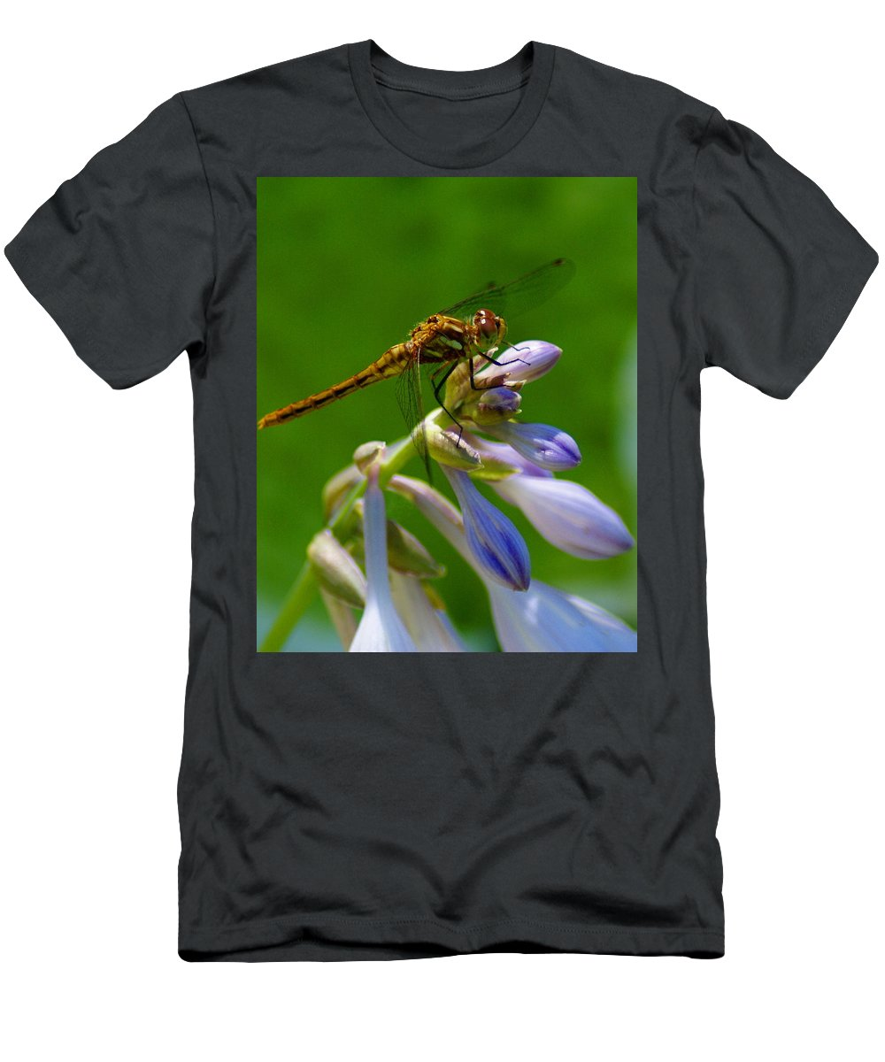 Dragonflies Men's T-Shirt (Athletic Fit) featuring the photograph A Beauty On A Beauty by Ben Upham III