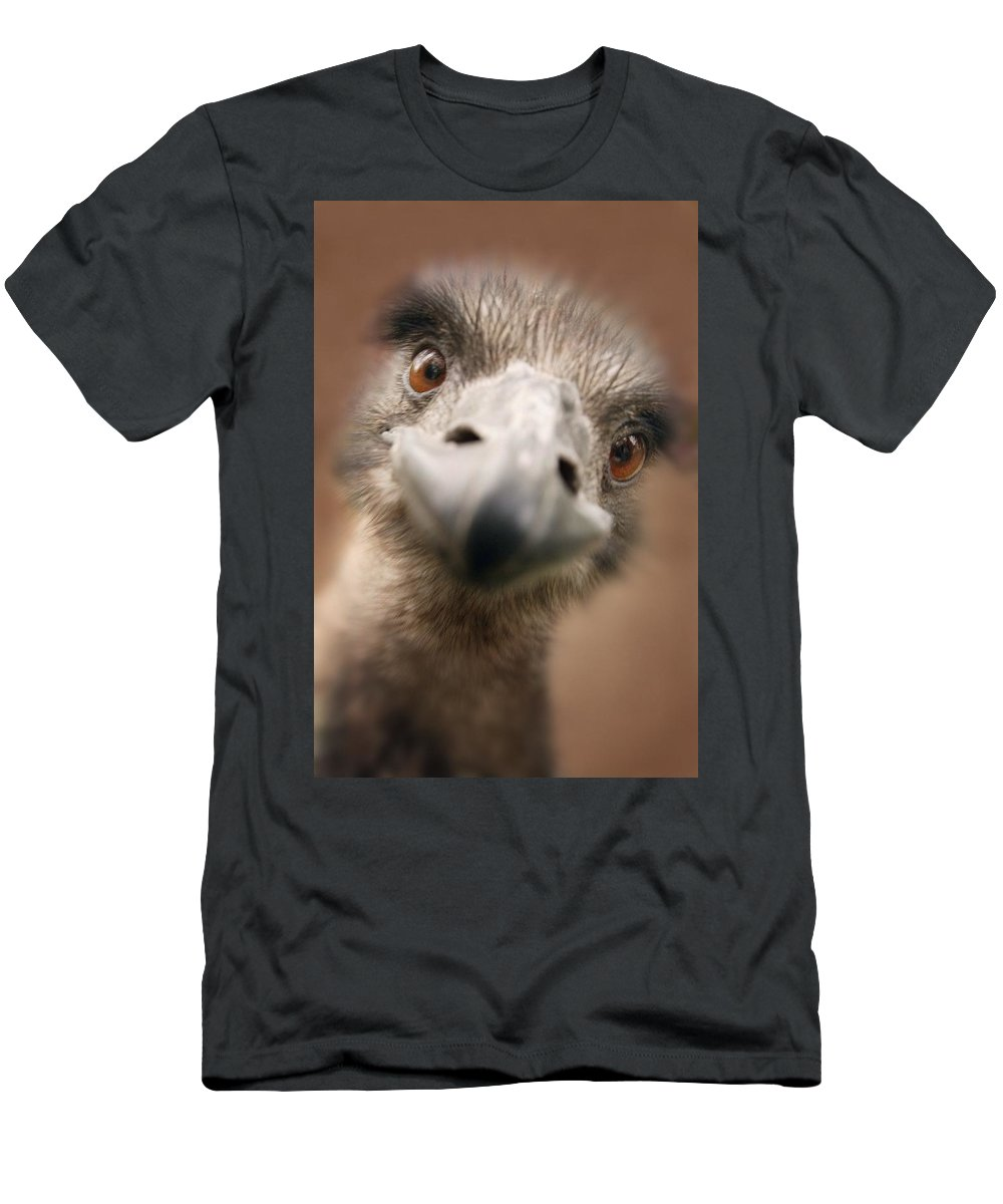Outdoors Men's T-Shirt (Athletic Fit) featuring the photograph A Strange Look by Don Hammond