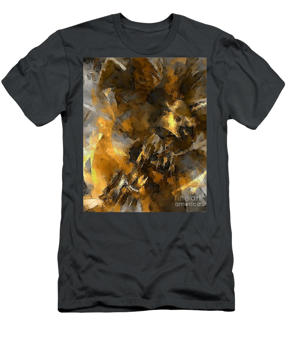 Graphics Men's T-Shirt (Athletic Fit) featuring the digital art Abs 0267 by Marek Lutek