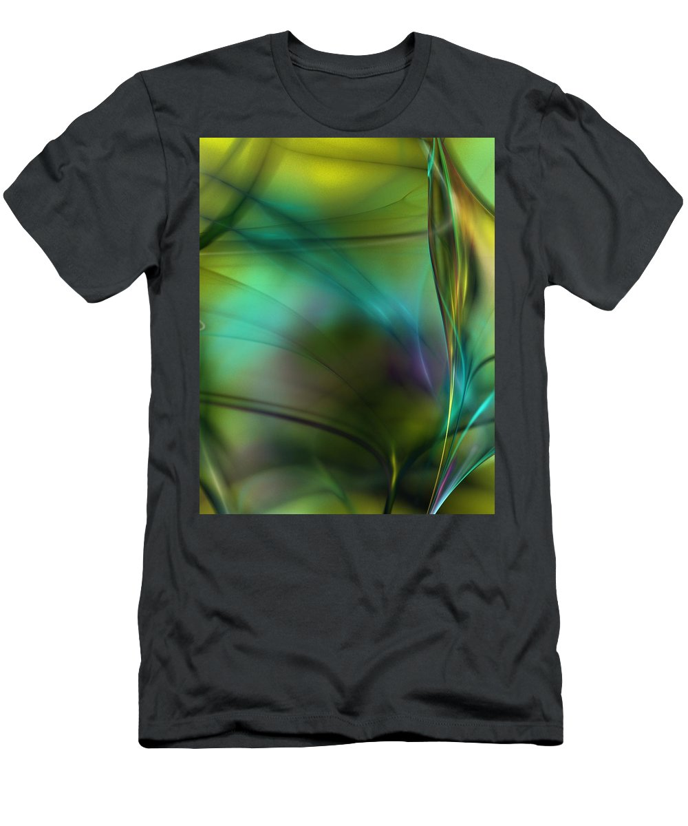Fine Art Men's T-Shirt (Athletic Fit) featuring the digital art Abstract 090711a by David Lane