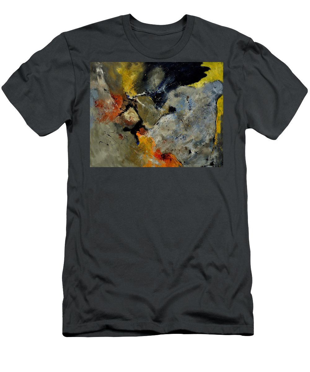 Abstract Men's T-Shirt (Athletic Fit) featuring the painting Abstract 181121 by Pol Ledent
