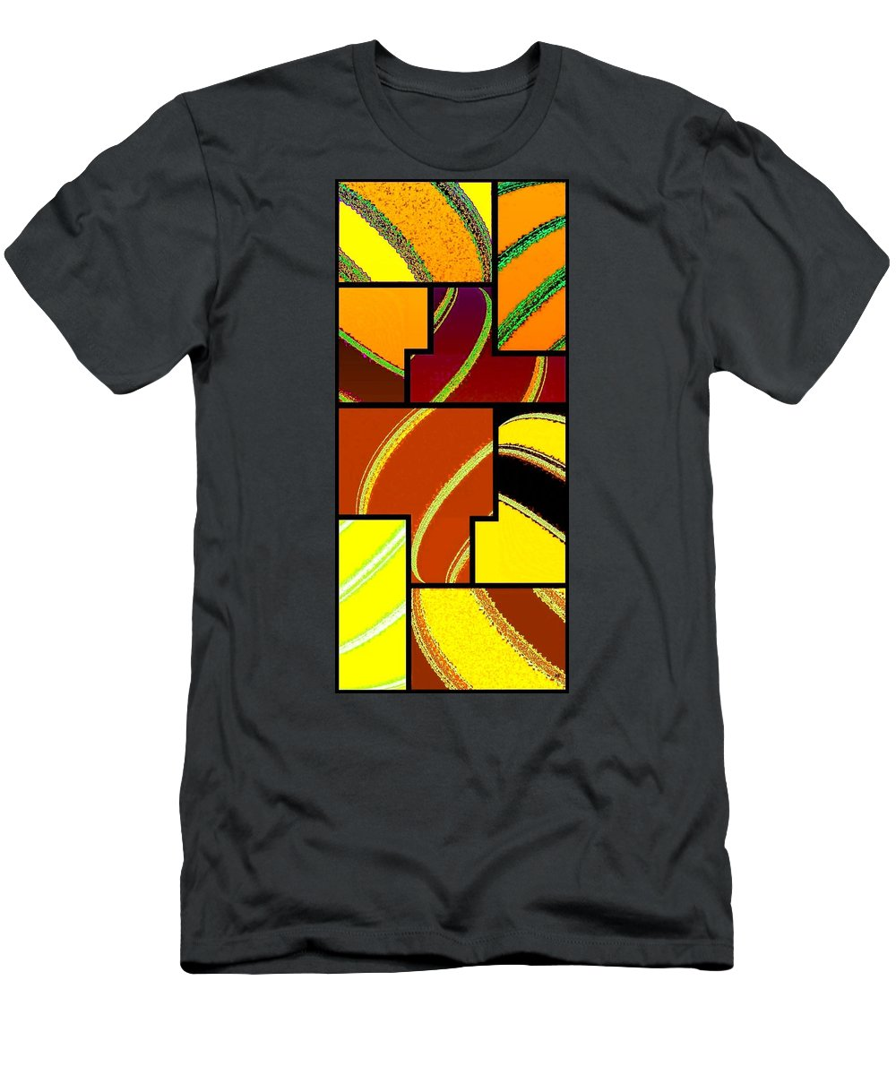 Abstract Fusion Men's T-Shirt (Athletic Fit) featuring the digital art Abstract Fusion 92 by Will Borden