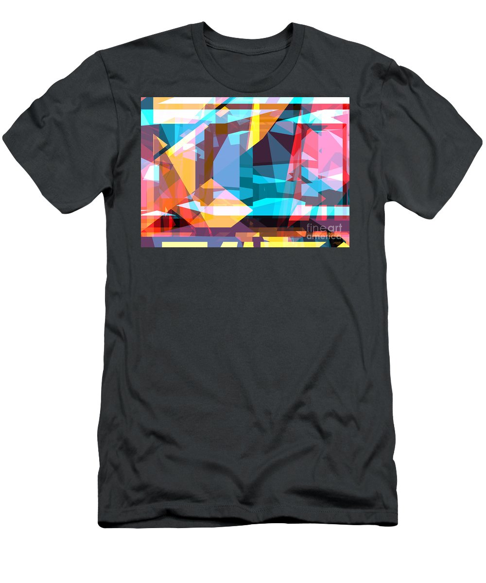 Abstract Men's T-Shirt (Athletic Fit) featuring the digital art Abstract Sin 28 by Russell Kightley