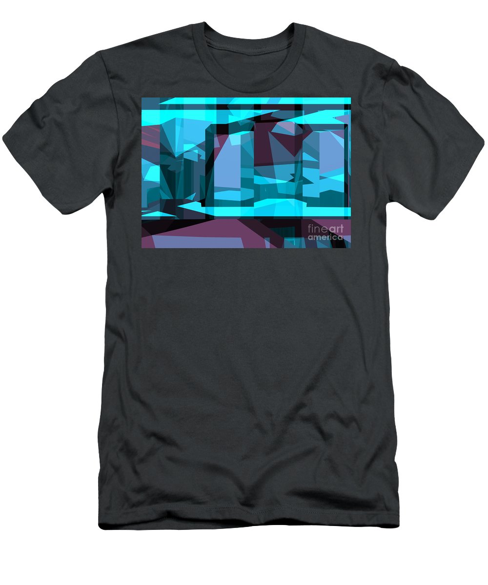 Abstract Men's T-Shirt (Athletic Fit) featuring the digital art Abstract Sin 29 by Russell Kightley
