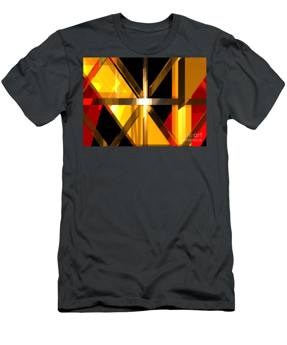 Abstract Men's T-Shirt (Athletic Fit) featuring the digital art Abstract Tan 3 by Russell Kightley