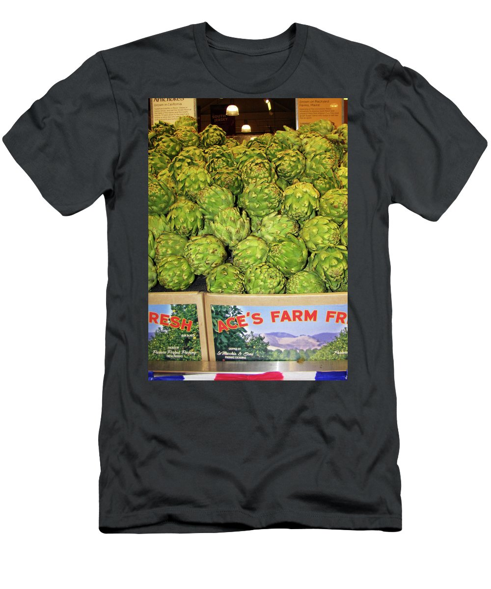 Artichokes Men's T-Shirt (Athletic Fit) featuring the photograph Ace's Artichokes by Denise Keegan Frawley