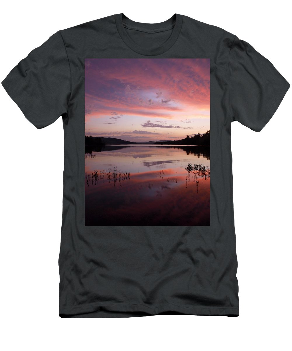 Adirondack Men's T-Shirt (Athletic Fit) featuring the photograph Adirondack Reflections 1 by Joshua House