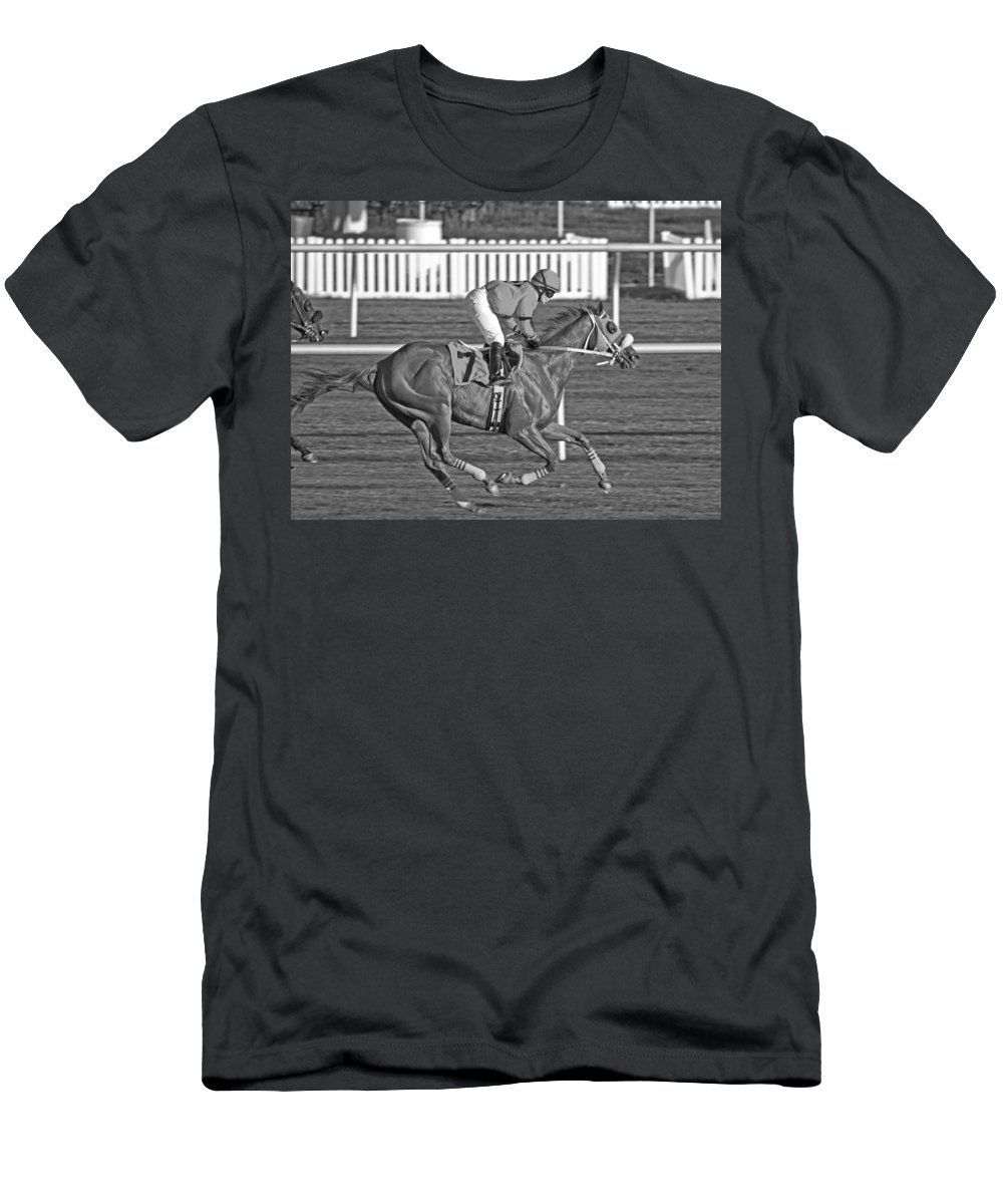 Horse Men's T-Shirt (Athletic Fit) featuring the photograph After The Crossing by Betsy Knapp