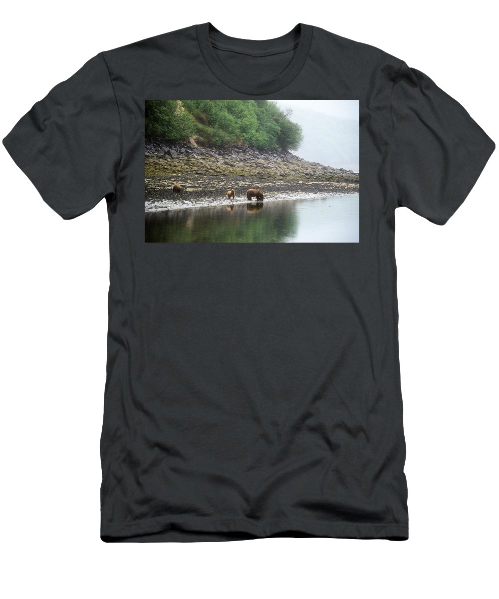 Alaska Men's T-Shirt (Athletic Fit) featuring the photograph Along Geographic Bay by Larry Allan
