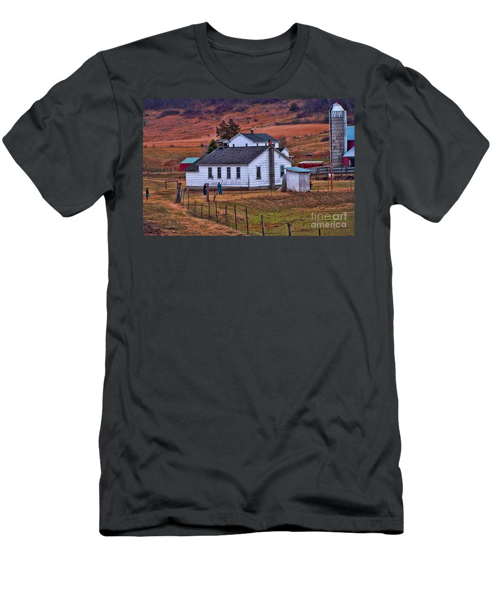 Amish Men's T-Shirt (Athletic Fit) featuring the photograph An Amish Farm by Tommy Anderson