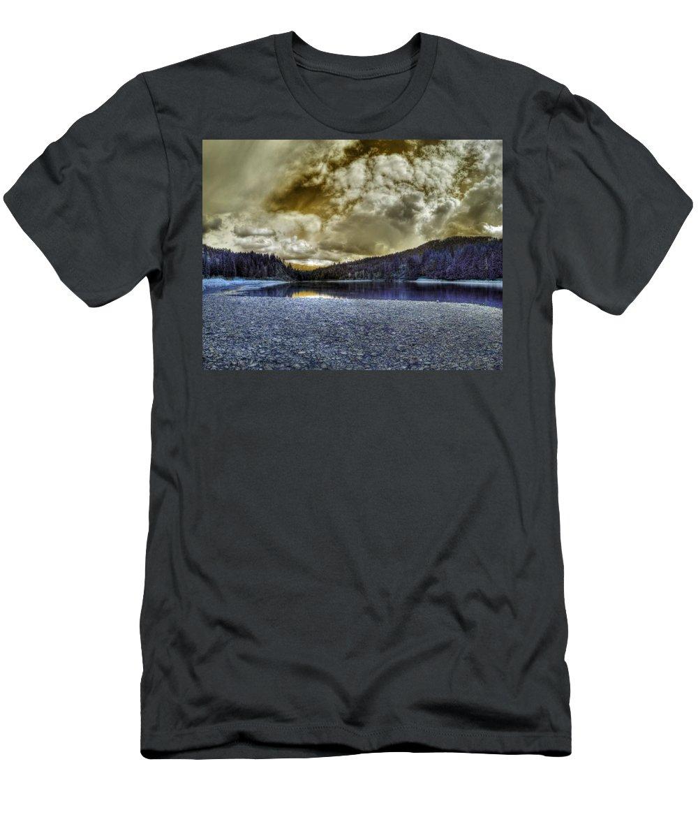 Digital Fantasy Men's T-Shirt (Athletic Fit) featuring the photograph An Idaho Fantasy 3 by Lee Santa
