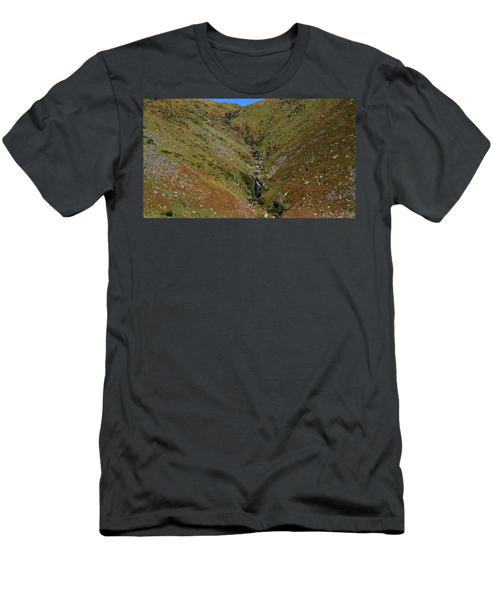 Mountains Men's T-Shirt (Athletic Fit) featuring the photograph Annascaul Mountains by Barbara Walsh