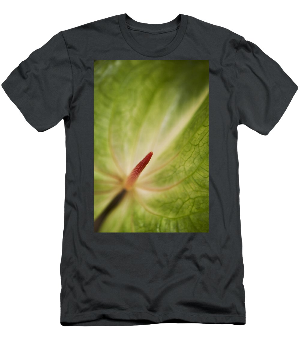 Abstract Men's T-Shirt (Athletic Fit) featuring the photograph Anthurium Macro by Kyle Rothenborg - Printscapes