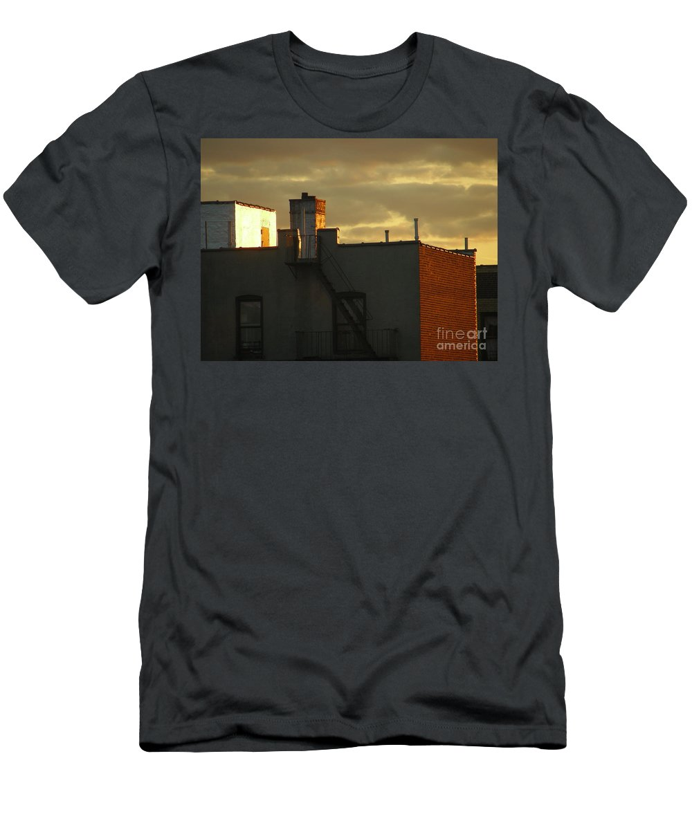 Sunset Men's T-Shirt (Athletic Fit) featuring the photograph April 14 2008 by Mark Gilman