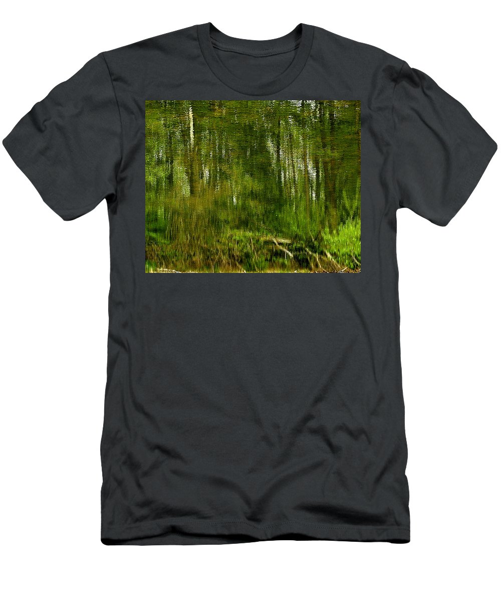 Usa Men's T-Shirt (Athletic Fit) featuring the photograph Artistic Water Reflections by LeeAnn McLaneGoetz McLaneGoetzStudioLLCcom