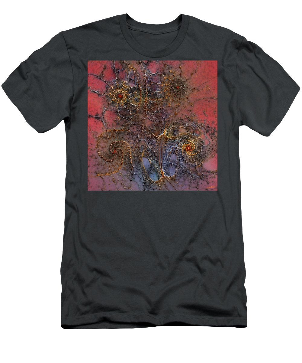 Abstract Men's T-Shirt (Athletic Fit) featuring the digital art At The Moment by Casey Kotas